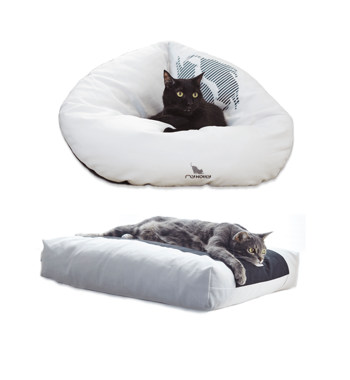 EMI white Cat Bed + PADI pillow